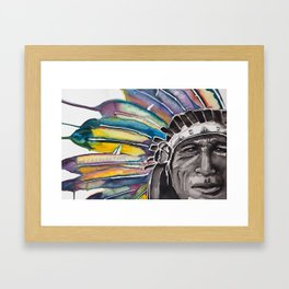 Iron Tail Watercolor Framed Art Print