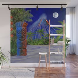 Tiki Art Background Wall Mural