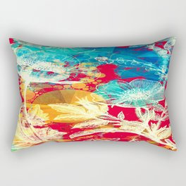 RED FLORAL ABSTRACT Rectangular Pillow