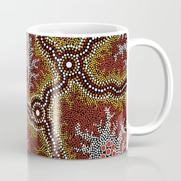 Aboriginal Art Authentic - Bushland Dreaming Ppart 2 Coffee Mug