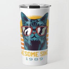 Awesome Cat Since 1989 Travel Mug