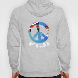 Fiji Peace Sign T Shirt Hoody