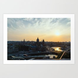 Amsterdam at Sunset Art Print
