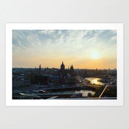 Amsterdam at Sunset Art Print