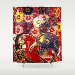 Becoming One Heart Shower Curtain