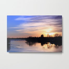 Floodplain at Sunset 4 Metal Print