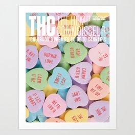 THC Valentine Art Print