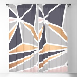 Geometry Gold 047 Blackout Curtain