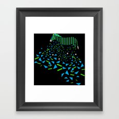 Geometric Zebra Framed Art Print