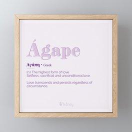 Agape Love Framed Mini Art Print