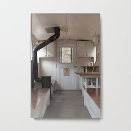 White Pass Caboose Cabin Interior Metal Print