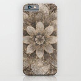 Lotus Mandala - pastel gold iPhone Case
