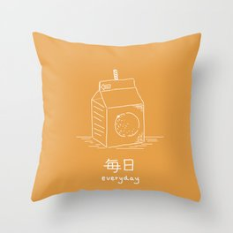 Orange Juice (mainichi) Throw Pillow