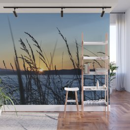 Sunset Sea Grass Wall Mural