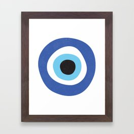 Evi Eye Symbol Framed Art Print