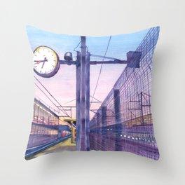 Belgium. Railway station. Throw Pillow