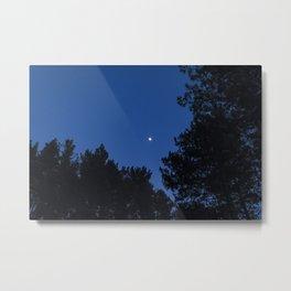 Jupiter & the Moon Metal Print