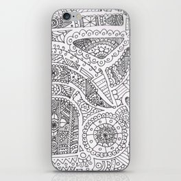 Day of the dead trooper doodle iPhone Skin