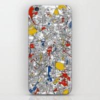 mondrian iPhone & iPod Skins featuring Berlin mondrian by Mondrian Maps