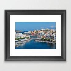 Agios Nikolaos Town Framed Art Print