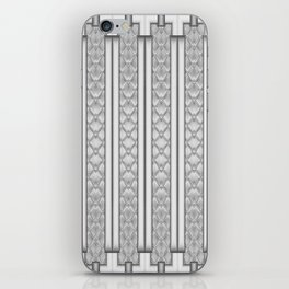 Cool Frosted Steel Grey Quilted Geometric Design iPhone Skin