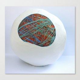 stringy egg Canvas Print