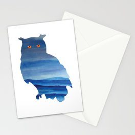 Watercolor owl art Stationery Cards