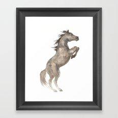 Rearing Horse Framed Art Print