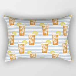 ice sweet tea summer southern stripes food fight apparel and gifts Rectangular Pillow