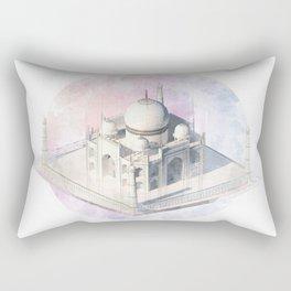 Agra Taj Mahal - axonometric Rectangular Pillow