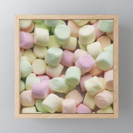Mini Marshmallow Photo Pattern Framed Mini Art Print