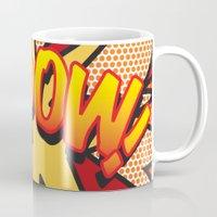 comic book Mugs featuring Comic Book KA-POW! by Thisisnotme