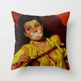 Gagged Throw Pillow