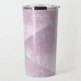 Mauve and White Geometric Ink Texture Travel Mug