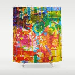 My Colour Wheel Exploded Shower Curtain
