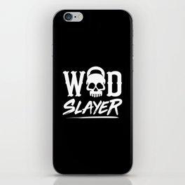 WOD Slay er Skull iPhone Skin