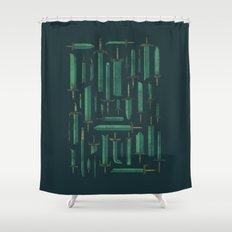 Bunch of Blades Shower Curtain