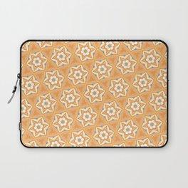 Orange six-point star pattern Laptop Sleeve