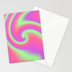 Tutti Frutti Ribbon Candy Fractal Stationery Cards