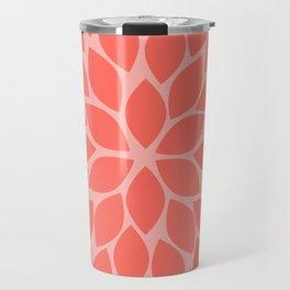 Coral Chrysanthemum Travel Mug