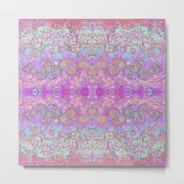 Pink Ice Abstract Watercolor Metal Print