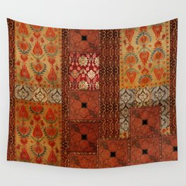 Vintage textile patches Wall Tapestry