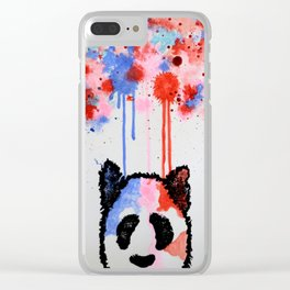 Rogue Panda -I Thought Painting Clear iPhone Case