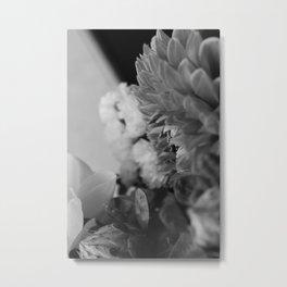 flower close up - black/white - fourteen Metal Print