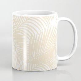 Modern tropical elegant ivory palm tree pattern Coffee Mug