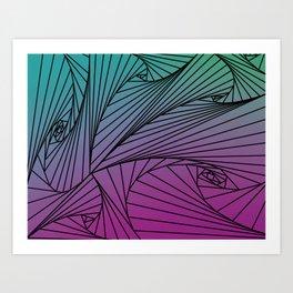 Gradient Spiral Pattern Art Print