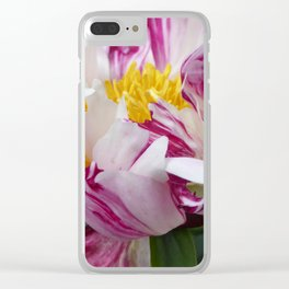 Peony - Raspberry Swirl Clear iPhone Case