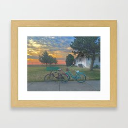 Bikes at Sunset Framed Art Print
