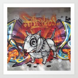 Graffiti, dog Art Print