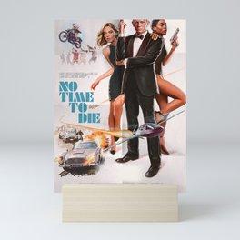 No Time To Die Retro Painted James Bon-d 00-7 Movie Poster Art Print Mini Art Print
